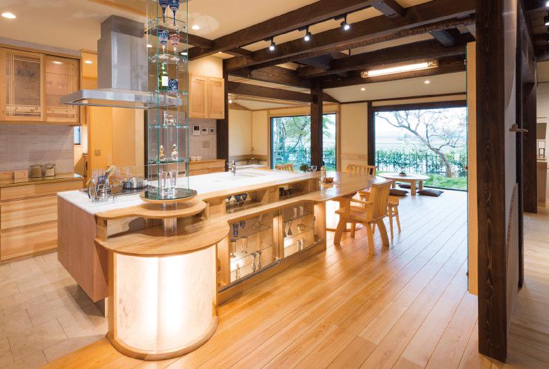 レストランのように洗練されたキッチン
