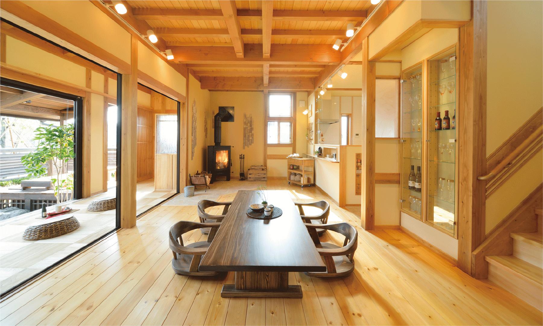 郷の家は、規格住宅の域を越えた、思い思いのアレンジができます。