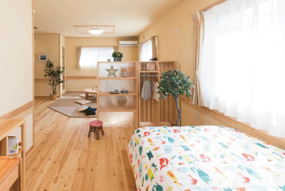 天然木ムク材・モッカの家の子供部屋