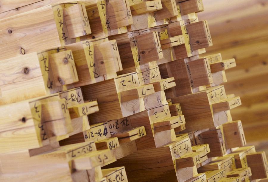夢ハウスの一貫生産システムで実現した高品質な「オリジナル無垢乾燥材」