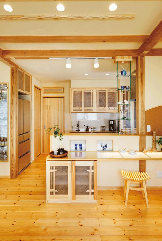 天然木無垢材・モッカの家「tsumiki」(つみき)のキッチン